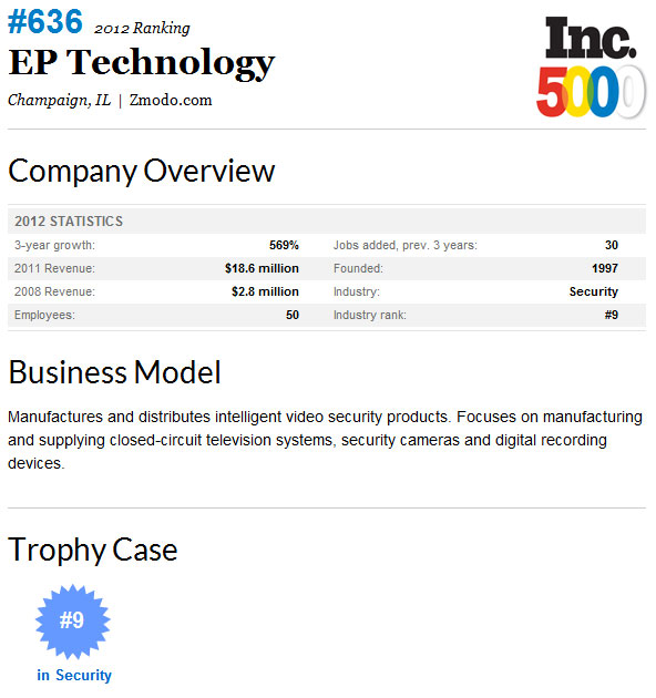 EP Technology - Champaign, IL - The Inc.5000